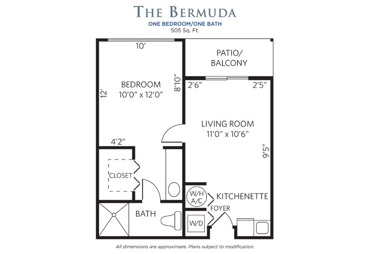 Plantation Assisted Living Bermuda Floor Plan