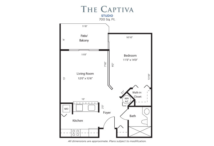 Plantation Independent Living Captiva Floor Plan