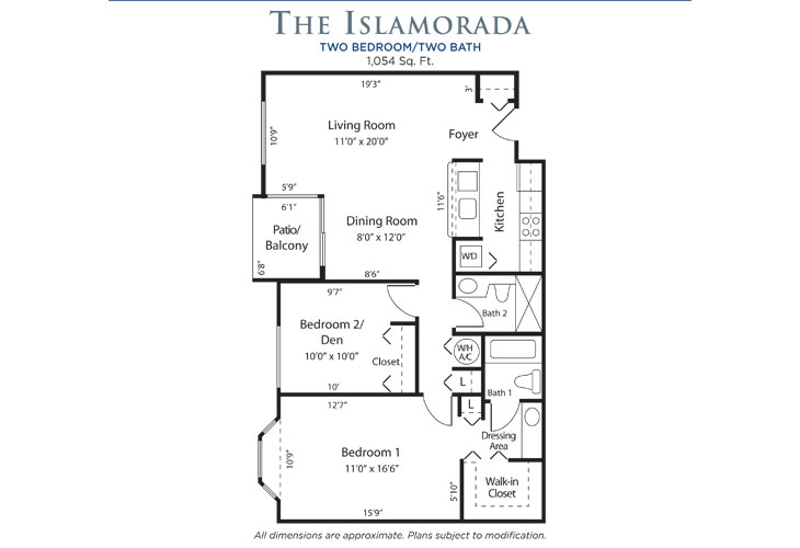 Plantation Independent Living Islamorada Floor Plan
