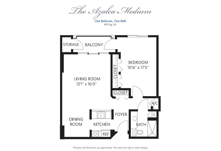 Pompano Beach Assisted Living Azalea Medium Floor Plan