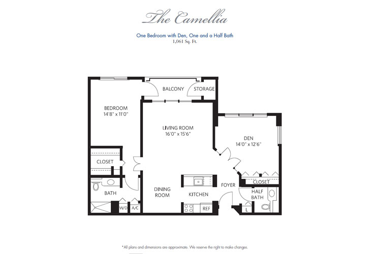 Pompano Beach Independent Living Camellia Floor Plan