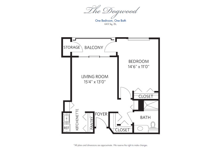 Pompano Beach Independent Living Dogwood Floor Plan