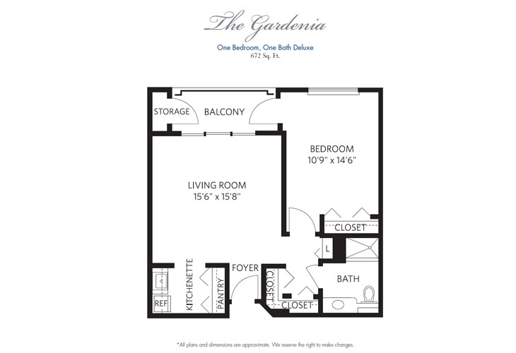 Pompano Beach Assisted Living Gardenia Floor Plan