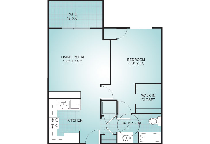 Riviera Independent Living Villa 1 Floor Plan
