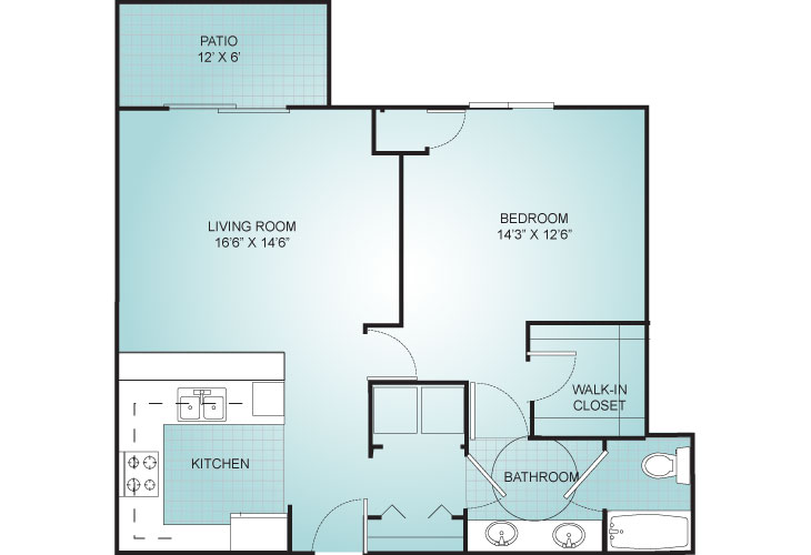 Riviera Independent Living Villa 2 Floor Plan
