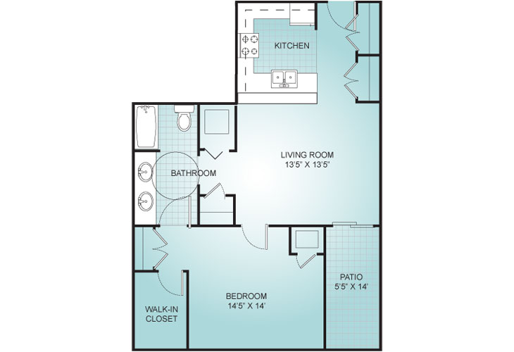 Riviera Assisted Living Villa 4 Floor Plan