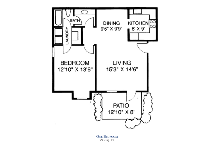 Savannah Square Independent Living One Bedroom 1 Floor Plan