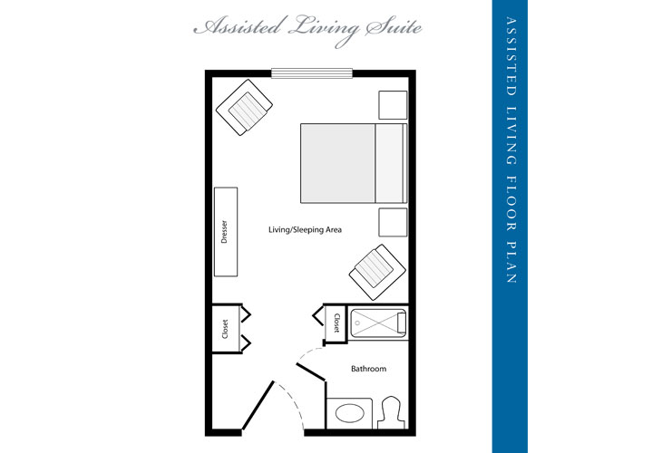 Stratford Court of Palm Harbor Assisted Living Suite Floor Plan
