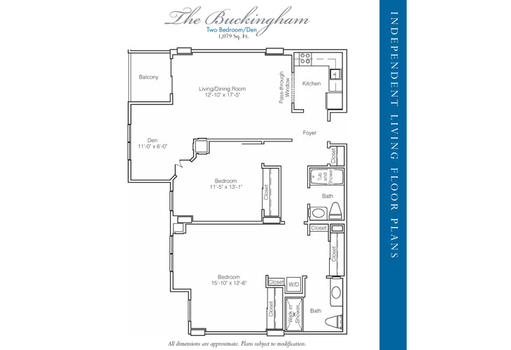 Stratford Court of Palm Harbor Independent Living Buckingham Floor Plan