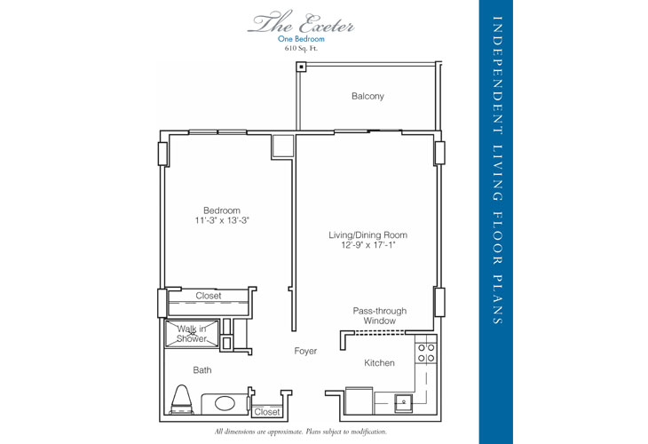 Stratford Court of Palm Harbor Independent Living Exeter Floor Plan