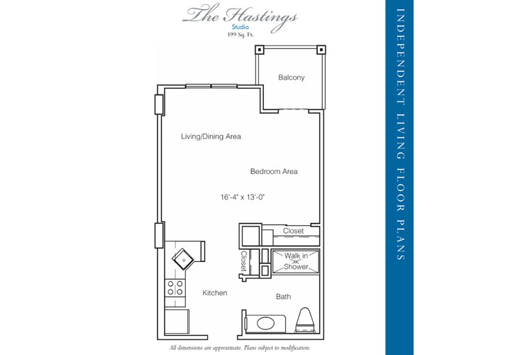 Stratford Court of Palm Harbor Independent Living Hastings Floor Plan