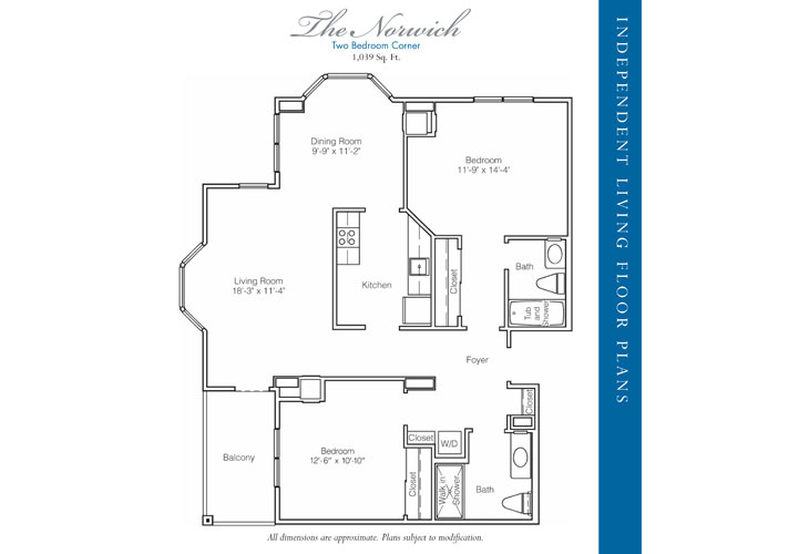 Stratford Court of Palm Harbor Independent Living Norwich Floor Plan