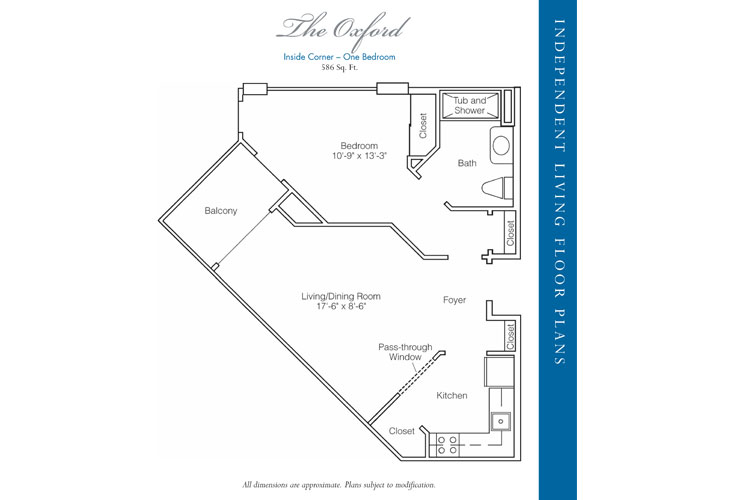 Stratford Court of Palm Harbor Independent Living Oxford Floor Plan