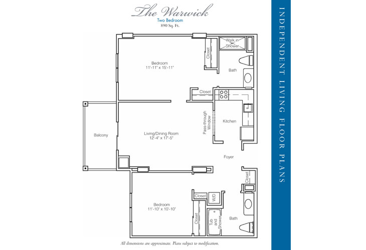 Stratford Court of Palm Harbor Independent Living Warwick Floor Plan
