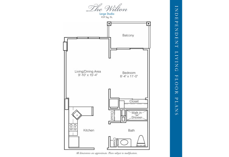 Stratford Court of Palm Harbor Independent Living Wilton Floor Plan