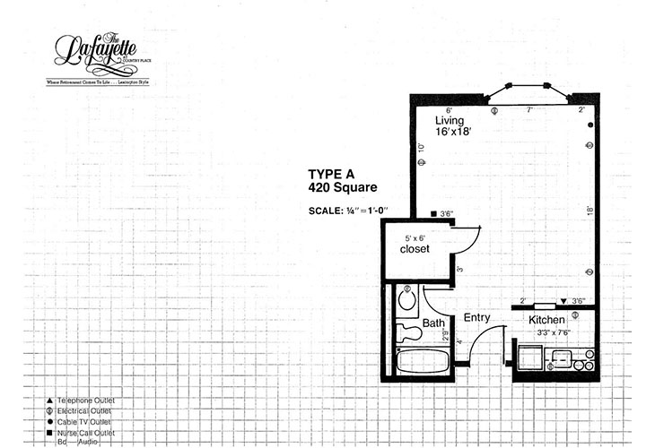 The Lafayette Independent Living A Floor Plan