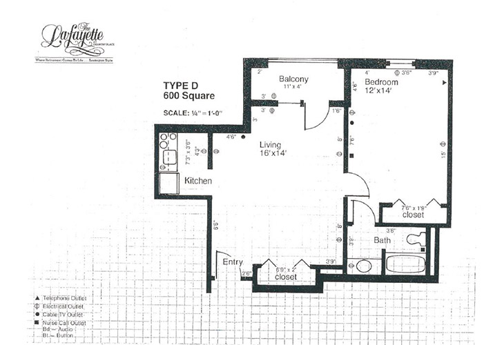 The Lafayette Independent Living D Floor Plan