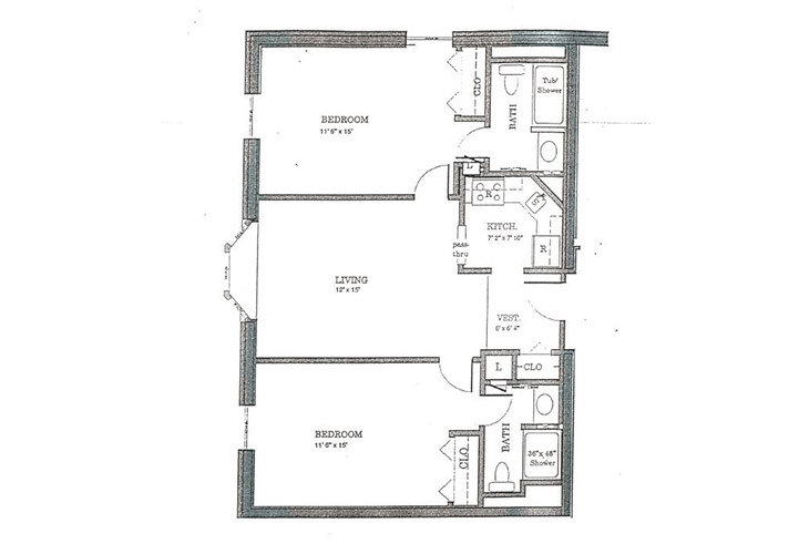The Lafayette Independent Living Q Floor Plan