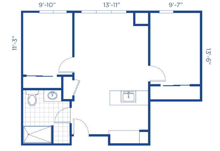 The Lodge Assisted Living Two Bedroom Floor Plan