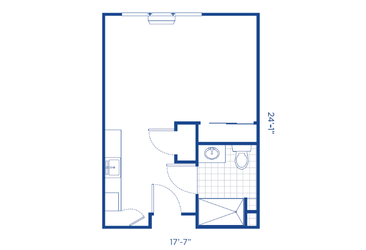 The Lodge Assisted Living Studio Floor Plan