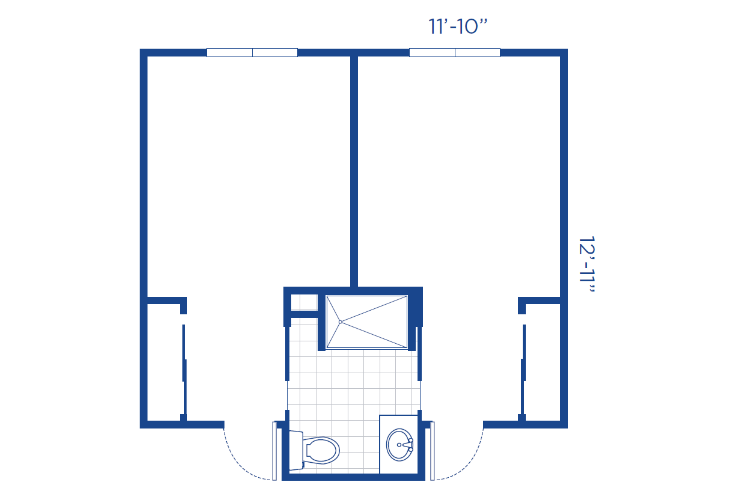 The Lodge Memory Care Shared Unit Floor Plan