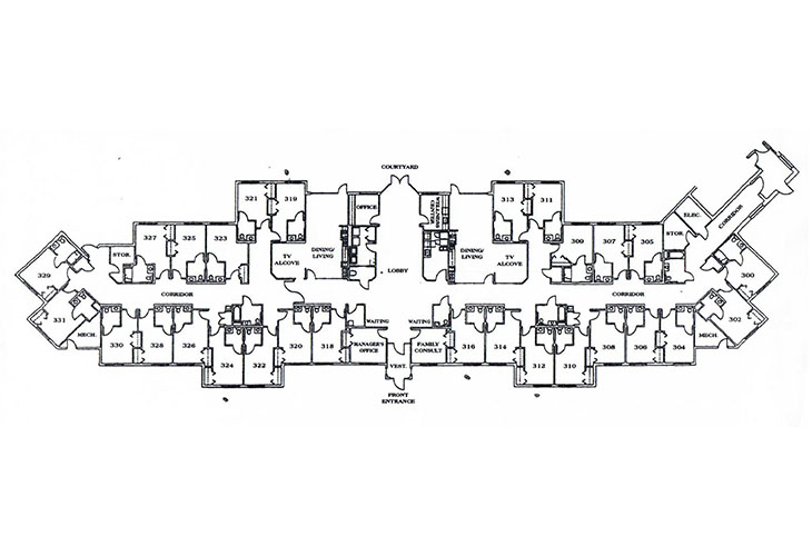 Memory Care Center Floor Plans