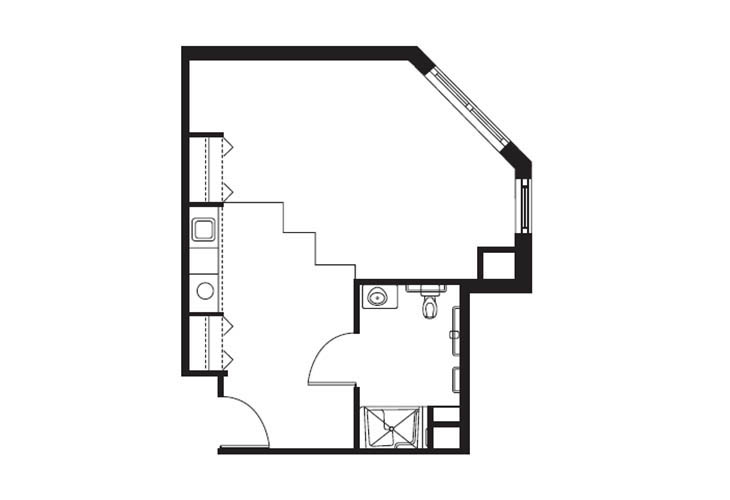 premium studio floorplan