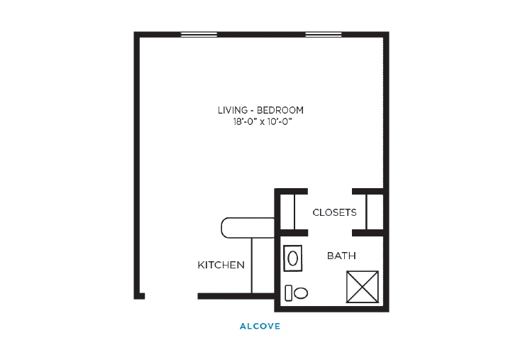 Foulk Manor North Assisted Living Alcove Floor Plan