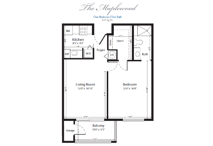 The Horizon Club Assisted Living Maplewood Floor Plan