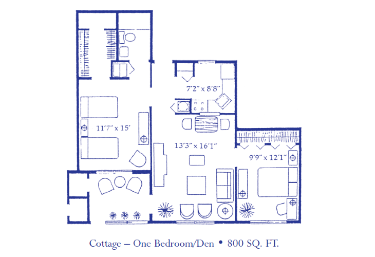 Cottage - One Bedroom Den