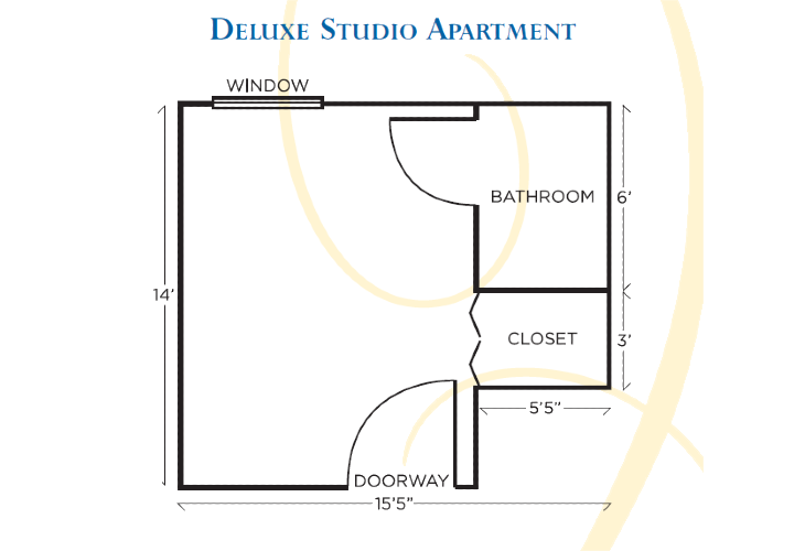 Dominion Village at Poquoson Assisted Living Deluxe Studio Apt