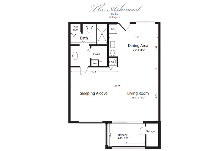 The Horizon Club Independent Living Ashwood Floor Plan