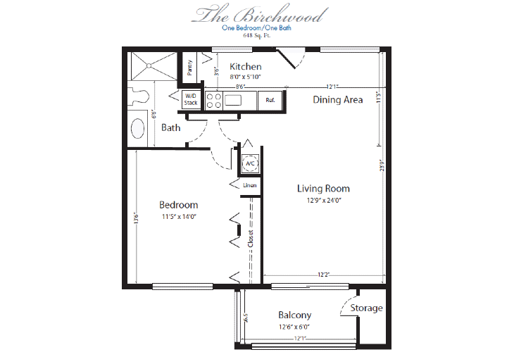 The Horizon Club Independent Living Birchwood Floor Plan