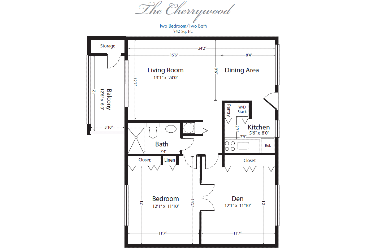 The Horizon Club Independent Living Cherrywood Floor Plan