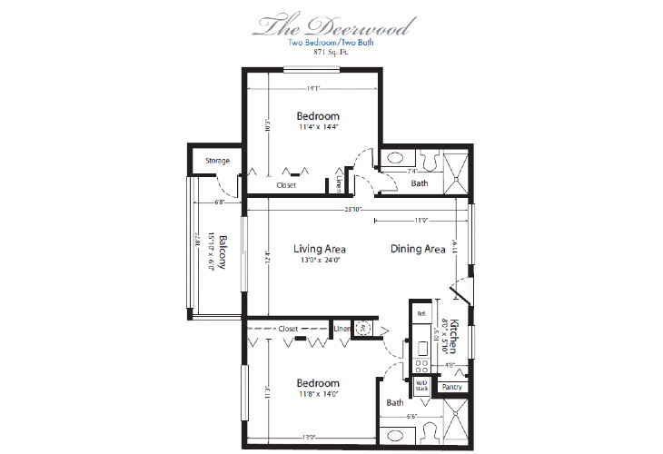 The Horizon Club Independent Living Deerwood Floor Plan