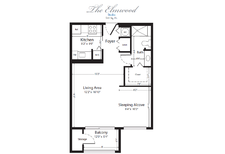 The Horizon Club Independent Living Elmwood Floor Plan
