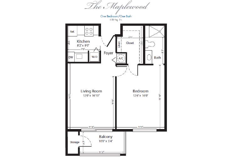 The Horizon Club Independent Living Maplewood Floor Plan