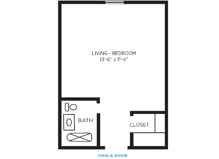 Foulk Manor North Independent Living Single Room Floor Plan