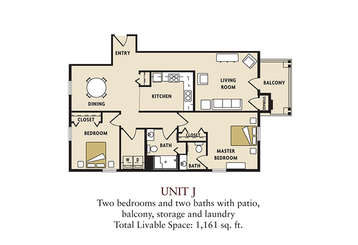 J two bedroom