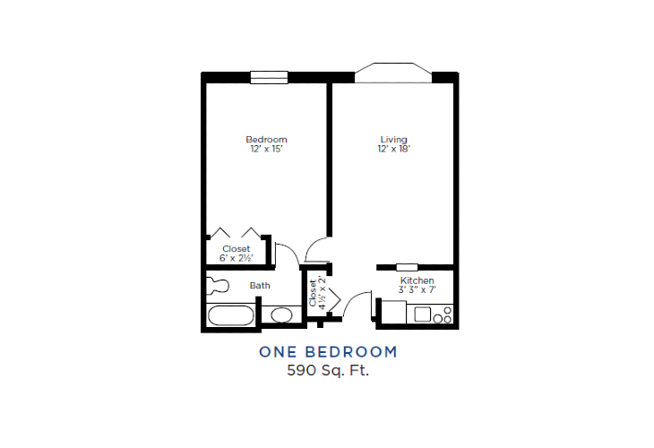 The Lafayette Independent Living One Bedroom (1)