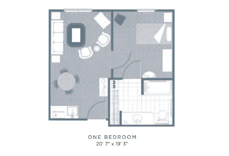 MS Athens One Bedroom Floor plan