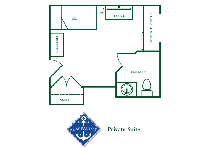 Somerford Annapolis Admiral Way Private Suite Floorplan