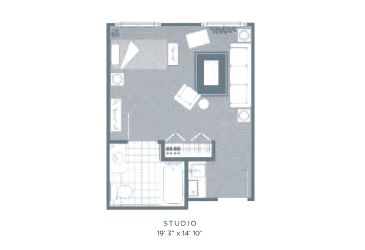 MS Athens Studio Floorplan
