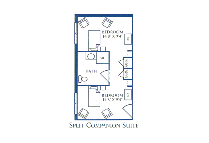Morningside Bellgrade Memory Care Split Companion Suite