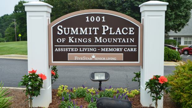 Summit Place of Kings Mountain Sign