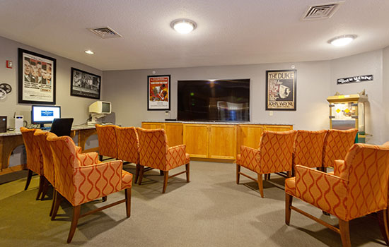 theater room with comfortable seating
