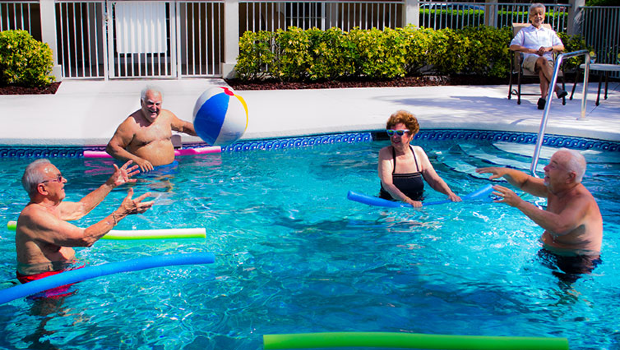St Lucie West People in Pool