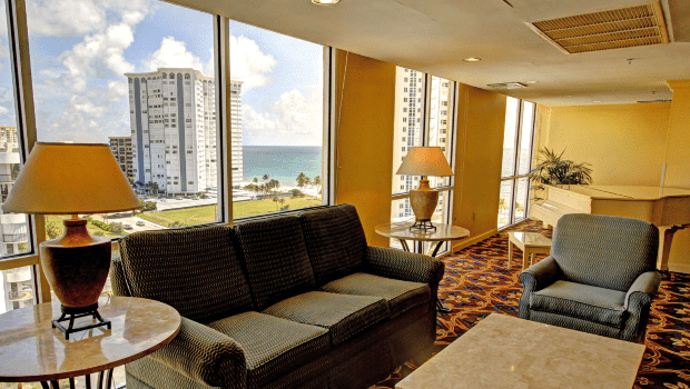 FSPR Pompano Couch Near Window