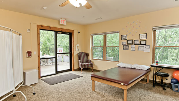 Amber Ridge Memory Care Rehabilitation Room