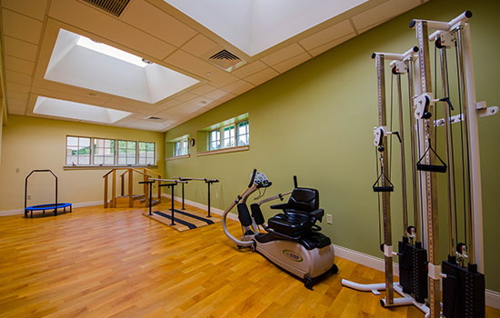 rehabilitation room with rehab equipment
